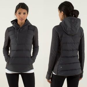 Lululemon Fluff Off Pullover Heathered Herringbone